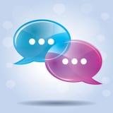 Anförandebubbla för kommunikation Royaltyfri Fotografi