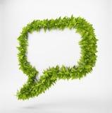 Anförandebubbla för Leaf 3D Royaltyfri Fotografi
