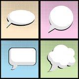 Anförandebubbla i vektor för stil för popkonst Royaltyfria Bilder