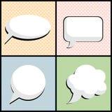 Anförandebubbla i vektor för stil för popkonst Fotografering för Bildbyråer