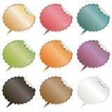 Anförandebubblaklistermärkear Royaltyfria Bilder