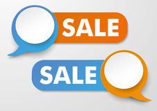 AnförandebubblaSale etiketter vektor illustrationer