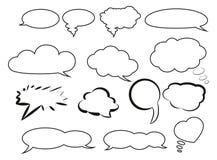 Anförandebubblor Arkivbilder