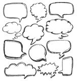 Anförandebubblor Arkivbild