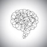Anförandebubblor eller pratstundsymboler på för översikt begreppsvectoen tillsammans - royaltyfri illustrationer
