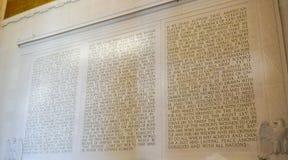Anförandet av Abraham Lincoln i sten - Lincoln Memorial - WASHINGTON DC - COLUMBIA - APRIL 7, 2017 Royaltyfri Fotografi