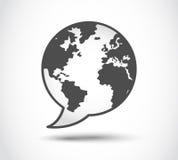 Anförandevärldslogo Arkivfoto