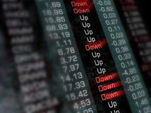 Anführungsstriche an der Börse Lizenzfreie Stockbilder