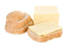 anf τυρί ψωμιού Στοκ Εικόνες