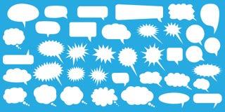 anf?rande f?r jpeg f?r tillg?ngliga format f?r bubblor eps8 set Vita anf?randebubblor f?r tom tom vektor Design f?r tecknad filmb vektor illustrationer