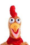 Anface schildern von einem Ostern-Hahnspielzeug Lizenzfreies Stockfoto