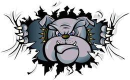 anfalla bulldogg royaltyfri illustrationer