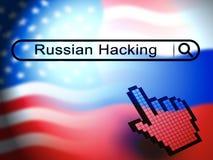 Anfaller ryskt spionage för valdataintrång den 2d illustrationen stock illustrationer