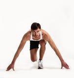 Anfang des Athleten Stockbild