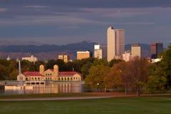 Anfang des Morgens Denvers am Stadt-Park lizenzfreies stockbild
