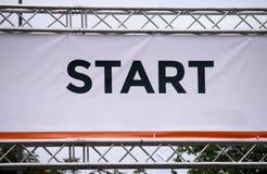 Anfang des Rennens oder der neuen Herausforderung Stockfotos