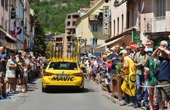 Anfang des Stadiums 18 in Briancon, Tour de France 2017 Stockbilder