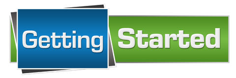 Anfang grün-blaues horizontales Stockfotografie