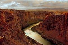 Anfang von Grand Canyon Stockfotos