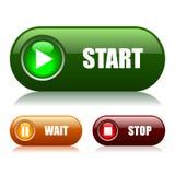 Anfangs- und STOPP-Tasten Lizenzfreies Stockfoto