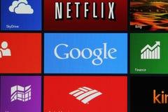 Anfangsbildschirm Windows-8 stockfoto