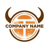 Anfangst-Büffel-Safari-Abenteuer Logo Template Lizenzfreies Stockbild