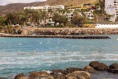 Anfi Del Mar παραλία σε θλγραν θλθαναρηα, Ισπανία Στοκ Εικόνα