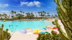 Anfi del Mar Anfidelmar beach in Gran Canaria Royalty Free Stock Photo