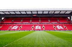 Anfield stadion, Liverpool, UK Arkivfoton