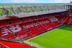 Anfield stadium, the home ground of Liverpool football club in UK