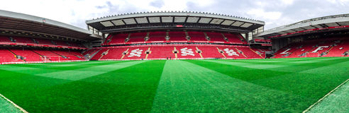 Anfield stadium, Liverpool, UK Royalty Free Stock Images