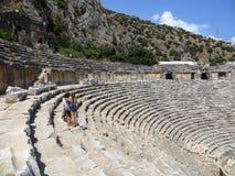 Anfiteatro antico antico di Roma Grecia Turchia Fotografia Stock Libera da Diritti