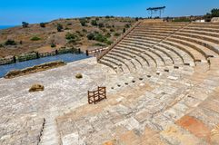 Anfiteatro antigo em Kourion, Chipre Imagem de Stock