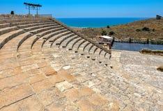 Anfiteatro antigo em Kourion, Chipre Foto de Stock
