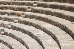 Anfiteatro antigo em Kourion, Chipre fotografia de stock