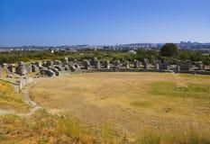 Anfiteatro antiguo en la fractura, Croatia Fotos de archivo