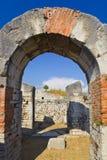 Anfiteatro antiguo en la fractura, Croatia Foto de archivo
