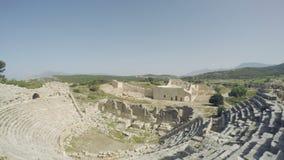 Anfiteatro antiguo la ciudad vieja en pavo almacen de video