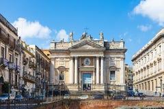 Anfiteatro antiguo (romano) de Anfiteatro, Catania Imágenes de archivo libres de regalías