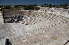 Anfiteatro Cipro di Kourion Fotografia Stock Libera da Diritti