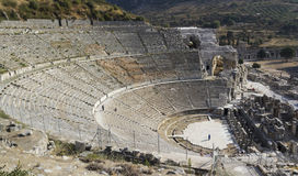 Anfiteatro (Colosseo) in Ephesus (Efes) Fotografie Stock