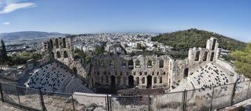 Anfiteatro da acrópole ateniense Fotos de Stock Royalty Free