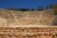 Anfiteatro de Antiphellos, KaÅŸ fotografia de stock royalty free