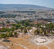 Anfiteatro de Atenas Imágenes de archivo libres de regalías