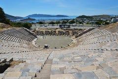 Anfiteatro de Bodrum, Turquía imagen de archivo