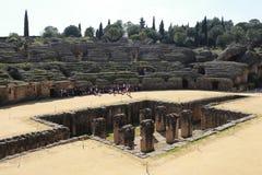 Anfiteatro de la ciudad romana de Italica fotografía de archivo libre de regalías