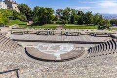 Anfiteatro de los tres Gauls en Fourviere sobre Lyon Francia imagen de archivo libre de regalías