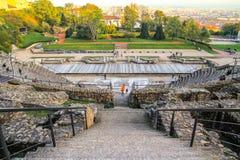 Anfiteatro de Lyon romano Imágenes de archivo libres de regalías
