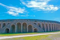 Anfiteatro de Pompeii na cidade romana antiga fotos de stock