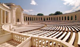 Anfiteatro del cementerio de Arlington Foto de archivo libre de regalías